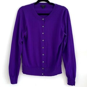 J. Crew Purple Cardigan